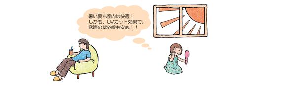 川越市 注文住宅|夏は太陽熱の侵入を防ぎ冷暖房効果を高めます